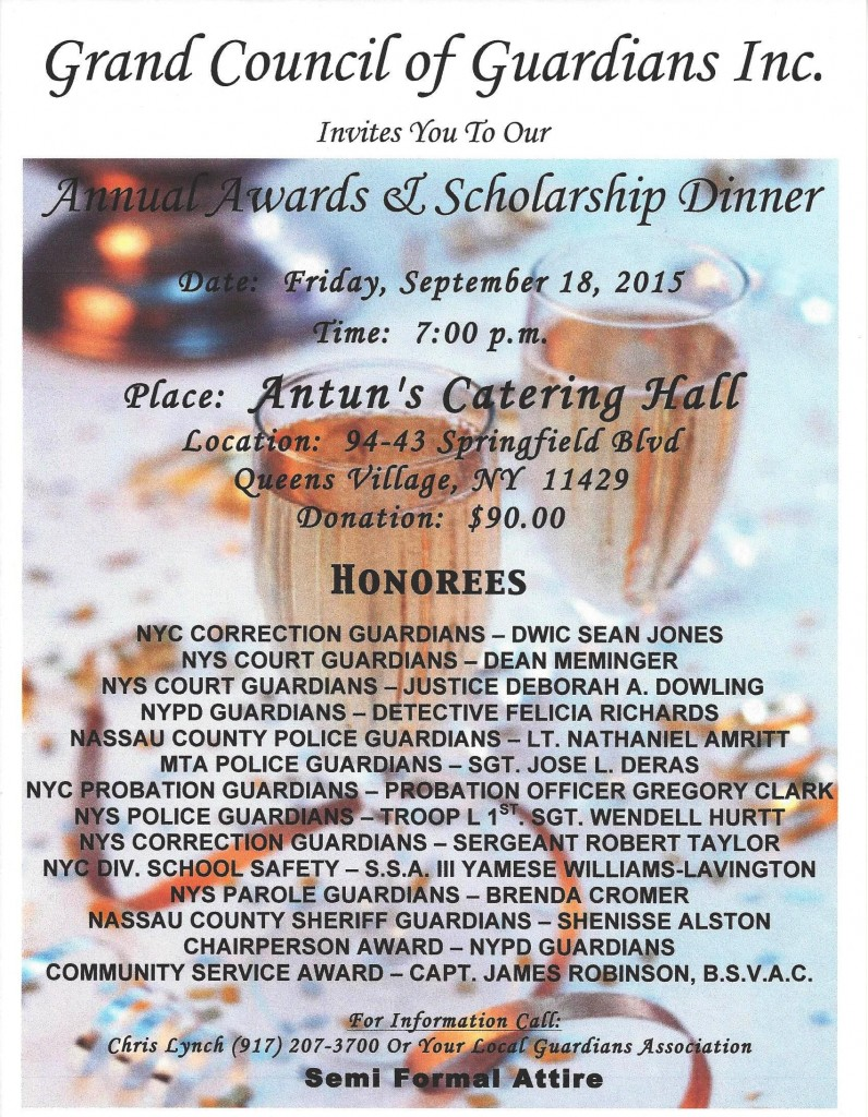 GCG Awards Dinner Flyer wHonorees 2015